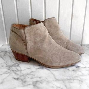 Clark's Leather Tan Heeled Booties